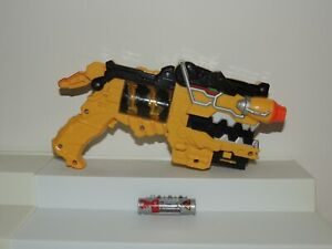 Power Rangers Dino Charge Yellow Morpher Gun w/ Charger Works! Great Condition!