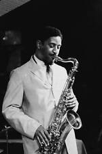 OLD JAZZ MUSIC PHOTO American Jazz Musician Sonny Rollins Plays The Saxophone