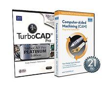 TurboCAD Pro 21 Platinum Edition & CAM Plug In -- 2D & 3D Design CAD Software