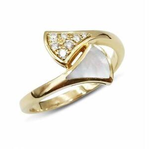 BVLGARI DIVAS DREAM RING 18ct Rose Gold Diamond Size O 353803 Pre-Owned