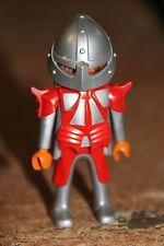 PLAYMOBIL - personnage-HOMME chevalier dragon rouge soldat guerrier château fort