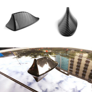 Carbon Fiber Style Car Shark Fin Roof Decorative Decorate Antenna Dummy Aerial