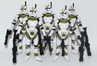 "Lot of 5 Star Wars 442ND Battallion Clone Trooper 3.75"" Loose Action Figure"