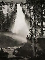 1950/72 Vintage ANSEL ADAMS Nevada Fall Yosemite Park Landscape Photo Art 11X14