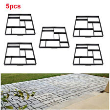 Quadrat 5X DIY Pflasterform Schablone Gießformen Form Betonpflaster Gehweg Neu