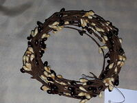Burgundy and Vanilla Pip Berry Garland, 18ft, Single-ply, Primitive, Country