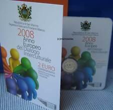 San marino 2 euros conmemorativa 2008 diálogo Commemorative coincard Folder