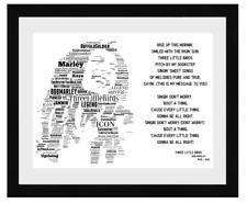 More details for bob marley 3 little birds word art portrait / keepsake/memorabilia/gift