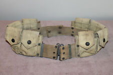 Original Pre to Early WW1 New York State National Guard 8 Pocket Ammo Web Belt
