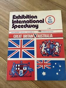 AUSTRALIA v BRITAIN Speedway 1st Test Match 30 November 1974 - Programme A4 Size