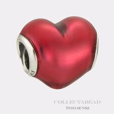 Authentic Pandora Sterling Silver In My Heart Enamel Bead 791814EN62