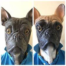 bulldog francés Máscara de Perro Cabeza Completa LUJO látex Máscaras de animales