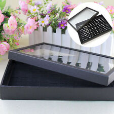100 Slots Ring Storage Jewelry Display Box Rings Earring Organizer Holder