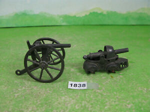 vintage mixed lead soldier unusual canon & early tank collectable models 1838