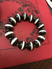 Old Tibetan Sulemimani Bhaisayaguru Dzi bead bracelet
