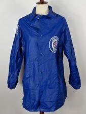 Detroit Tigers Vintage Raincoat Jacket Vented Blue Snap 80s 90s Mens Sz Large L