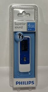 Philips GoGear Mix 4GB Superior Sound MP3 Player SA3MXX04BC/37 Blue Sealed!