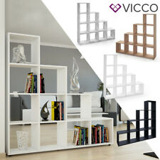 VICCO Treppenregal Raumteiler Stufenregal Bücherregal Standregal Regal Treppe