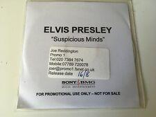 Elvis Presley RARE 1trk PROMO CD Suspicious Minds