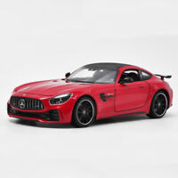 Mercedes-AMG GT R Sports Car 1:24 Model Car Diecast Gift Toy Vehicle Red Kids
