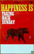 Taking Back Sunday Happiness Is Ltd Ed Discontinued Rare Poster+Free Punk Poster