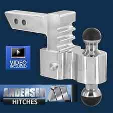 "Andersen 3461 Aluminum Adjustable Rapid Hitch Ball Mount 4""Drop/Rise Greaseless"