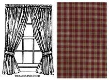 "Window Curtain Panel Pair 63"" L - Sturbridge in Wine by Park Designs - Burgundy"