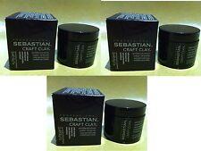 3 x SEBASTIAN CRAFT CLAY REMOLDABLE MATTE TEXTURIZER 52ML / 50G / 1.7OZ