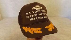 VTG 1980's CHEVY/Chevrolet Slams Rusty Ford Mesh Snapback Hat/Cap NWOT