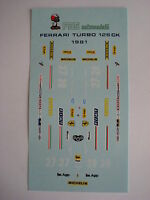 F1 DECALS KIT FERRARI 126 K TURBO F1 1981