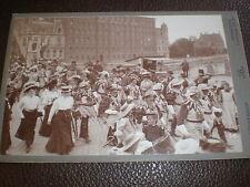 Cdv cabinet old photograph folk festival by Lussenhop Hanover Germany c1900s