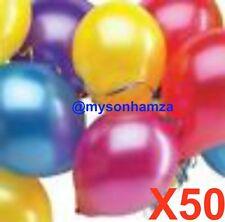 50 Mix Colours Latex Ballons