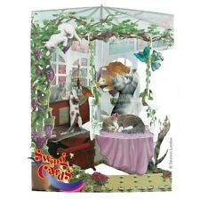 Santoro 3D Swing Card - Cats in Conservatory