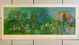 Dufy Raoul Lithographie 105 Cm  Berkshire UK Ascot Chevaux hippodrome course