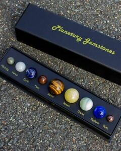 Planetary Gemstones Solar System Space Gift Beautiful Polished Stones Cool Fun