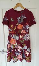 BNWT £65 Sold Out Oasis Size 8 10 Skater Dress Floral Butterfly Bird Summer