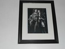 "Framed Mick Jagger / Keith Richards 1976 Germany Print Rolling Stones,14"" x 17"""