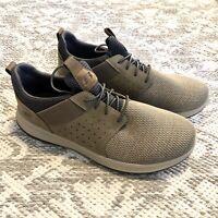 Skechers Mens Delson Camben Slip On Walking Sneaker Taupe Memory Foam Size 12W