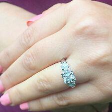 Moissanite Diamond Engagement Ring Halo 0.75ctw 14k White Gold Round Forever One