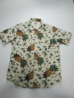 Stussy Hawaiian Short Sleeve Men's Size Large Pineapple Button Up Shirt