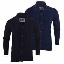 Brave Soul Patternless Button-Front Cardigans for Men