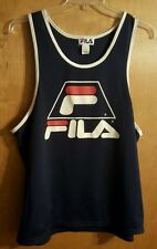 VTG 80s/90s Fila Basketball Jersey Mesh Tank Top Big Logo Men's XL