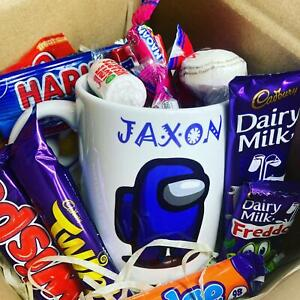 Personalised Among Us Cup Novelty Mug & Sweets Gift Box Birthday Easter Present