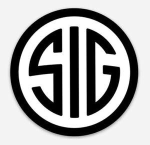 Sig Sauer Custom Logo Die Cut Magnet for Fridge or Toolbox Firearms Gun