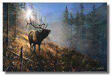 "Bull Elk Mtn Sunrise ""Song In The Mist"" ByJim Hansel 18x12 WallArt Print Picture"