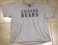 VINTAGE Men's Nike Chicago Bears T-Shirt Sz XL Gray NFL Football 90s Jersey