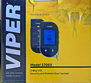 Viper 5706V Car Remote Start Security Alarm 1-Mile Range 2-Way LCD Remote  NEW
