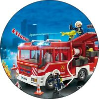Playmobil Feuerwehrmann Eßbar Tortenaufleger Party Deko Tortenbild Geburtstag