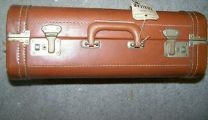 Vintage Suitcase Travel Hard Shell 1960 Brown