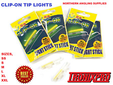 10 X CLIP ON FISHING ROD TIP LIGHTS / LIGHTSTICKS, (SIZE: SUPER SMALL )  FISHING